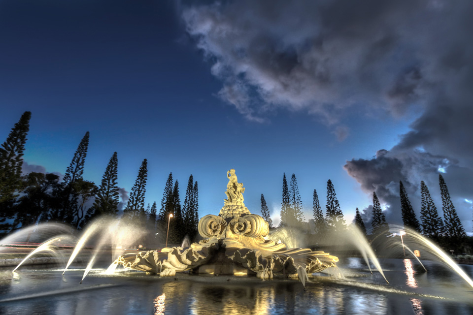 Princeville Fountain Kauai Hawaii